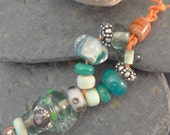 Seashell lampwork bead set