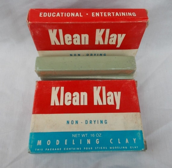 Vintage Klean Klay Modeling Clay US Shipping Included