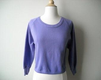 Vintage Purple Cropped Sweatshirt