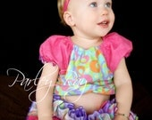 Parley Ray Pink and Purple Easter Spring Peasant style blouse and All Around Ruffle Skirt Bloomers/ Diaper Cover/ Photo Props