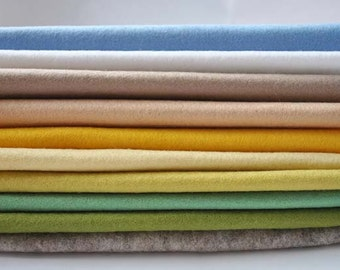 Wool Felt Sheets - 10 pieces - 'First Shoots of Spring'