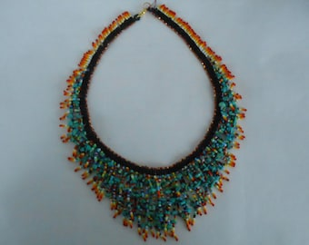 Native American style necklace with Fringe.