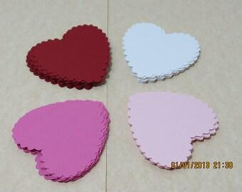 "2"" Valentine Scalloped Hearts"