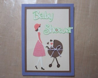 MADE TO ORDER Custom Lot of 20 Baby Shower Invitations with Stroller & Mom