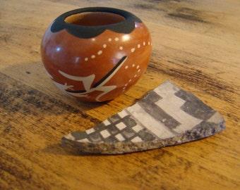 Native Bowl Vintage Small Hopi Earthen Pottery