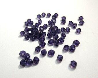 60 Pc Swarovski Crystal Bicone Purple Velvet 3mm
