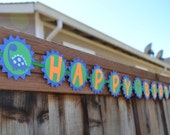 Dinosaur Birthday banner with personalized name