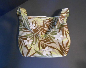 Handmade Mod Print over the shoulder purse