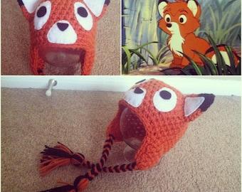 Crochet Fox Beanie/Hat