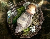 "3"" Baby Faery In an Angelvine Nest."