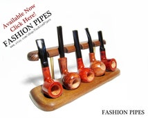 5 Tobacco Pipes Rack Stand Hold Case Display/Wood Pipe Rack NEW....Best Pipes Showcase....