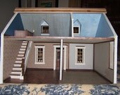 "Doll House, ""The House that Jack Built"" Cassie model charming southern cottage,FINISHED READY for YOU to furnish,Handmade, Wooden"