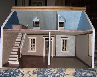 """Doll House, """"The House that Jack Built"""" Cassie model charming southern cottage,FINISHED READY for YOU to furnish,Handmade, Wooden"""