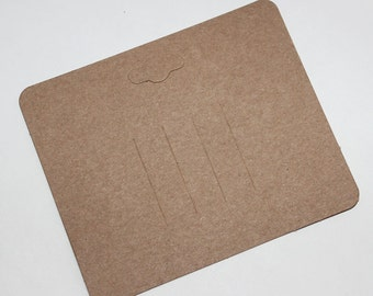 High Qualty Card Stock-Brown Kraft Paper Hair Clip Barrette Card for Jewelry and Accessories  200pcs