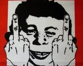 Printed Patch - Large Back GET MAD - Alfred E Neuman and Daddyo Fattyo are Pissed p538