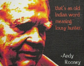 ANDY ROONEY QUOTE  - Printed Patch - Sew On - Vest, Bag, Backpack, Jacket