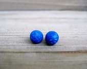 Tiny Blue Earrings - JullMade