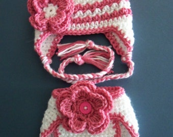 Hat And Diaper Cover, Baby Diaper Cover and Hat, Newborn diaper Cover Made to Order