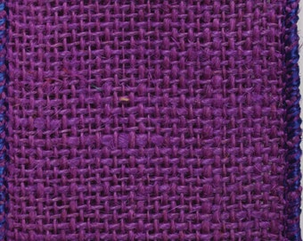 """CLOSEOUT!!!   Purple Wired Burlap 2 1/2"""" x 10 Yards"""