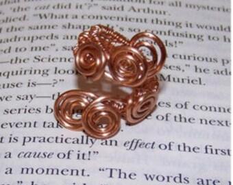 Aphrodite's Curls Wire Wrap Ring - Percy Jackson Aphrodite Cabin