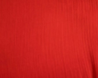 """54"""" Red Cotton Gauze Fabric-15 Yards Wholesale by the bolt"""