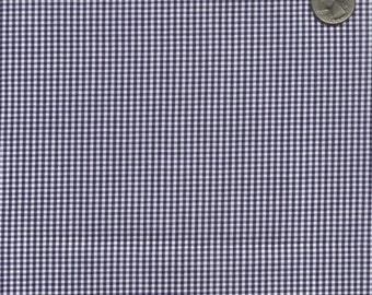"60"" Navy Gingham Check Fabric (1/16"" check) 20 Yards By The Bolt"