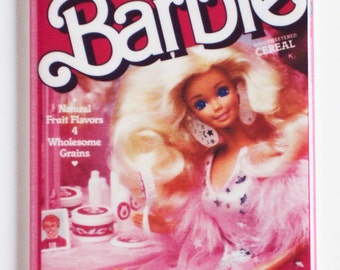 Breakfast With Barbie Cereal Fridge Magnet (2 x 3 inches)