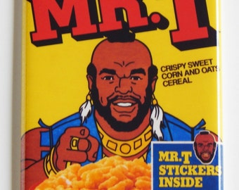 Mr. T Cereal Box Fridge Magnet (2 x 3 inches)