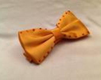Golden Orange Rhinestone Bow Tie For Men or Women