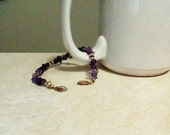 Amethyst and 14 KT Gold Filled Shell Charm Bracelet on ETSY at DesignsByDebbieKay