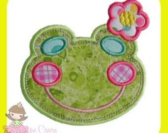 Girl Frog Applique design