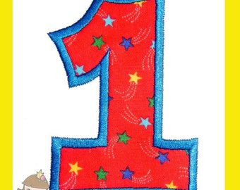 Number One applique design