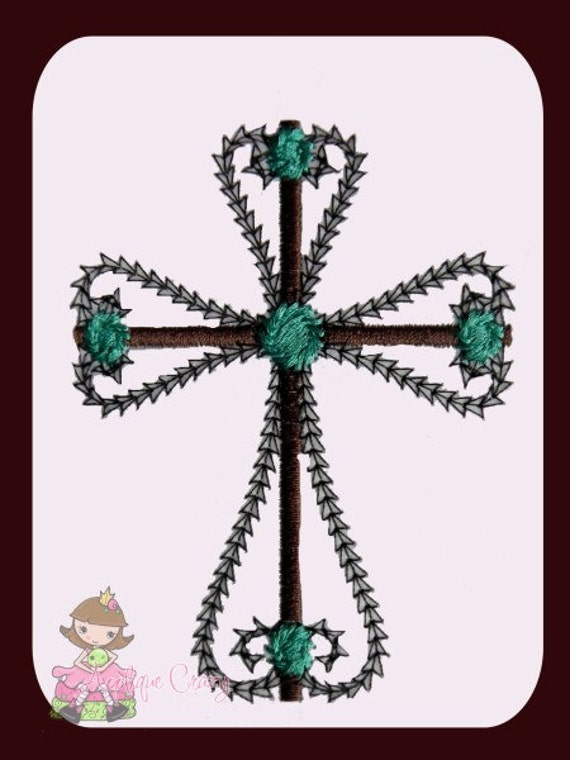 Vintage stitch Cross Applique design
