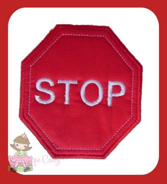 Stop Sign Applique design