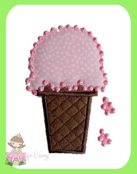 Icecream cone Applique design
