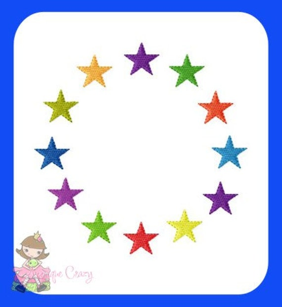 Star Frame Embroidery file