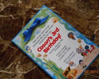 Bubble Guppies Birthday Invitation-Bubble Guppies Invitations-Bubble Guppies Invite-Boy's Invitation