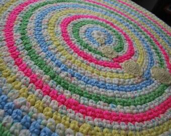 Baby Nursery rug Jumping print handmade circle rug