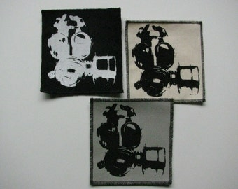 One gas mask canvas patch in any color you choose....FREE SHIPPING USA
