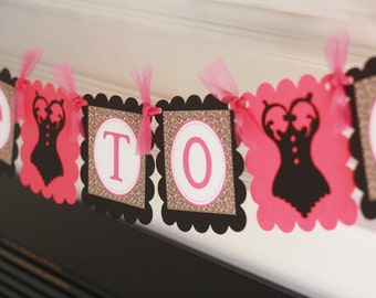 """Hot Pink Brown & Black Leopard Print Lingerie Bridal Shower Bachelorette """"Bride to Be"""" Banner -  Ask about our Party Pack Special"""