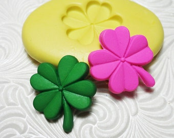 Shamrock Mold Flexible Silicone Rubber Push Mould for Resin Wax FIMO Fondant Royal Icing Chocolate Polymer Clay Metal Clay