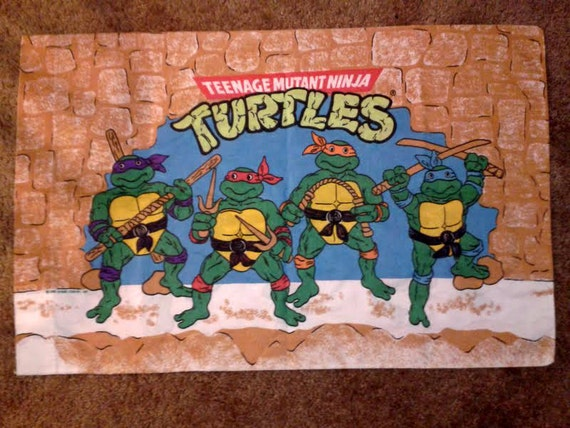 vintage Teenage Mutant Ninja Turtles pillow case