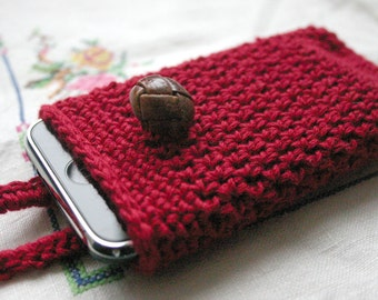 crochet pattern, phone case, easy tutorial, vintage style