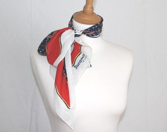 Vintage Jacqmar spear scarf , red white and blue