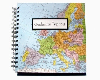 Graduation Gift - Travel Journal - You Pick the Map