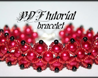 Pearl bracelet Hugs and Kisses Beading Pattern PDF bracelet or necklace beading pattern tutorial technique