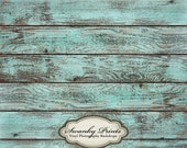 SALE 6ft x 6ft  Vinyl Backdrop WOOD FLOORDROP Blue Washed Wood