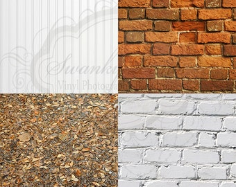 "SAMPLE PACK / FOUR 12"" x 12"" Mix and Match / Vinyl Photography Backdrops for Product Photos"