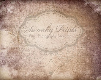 9ft x 7ft Brown Grunge Texture  / Vinyl Photography Backdrop