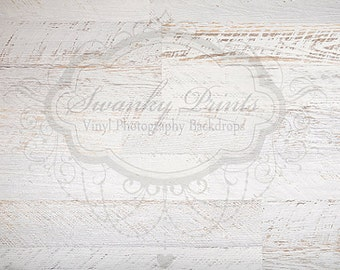 IN STOCK / Fast Shipping / 3ft x 2ft Vinyl Photography Backdrop / White Textured Wood